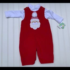 Petit Ami Zu Corduroy Outfit Christmas NEW 6 Mth